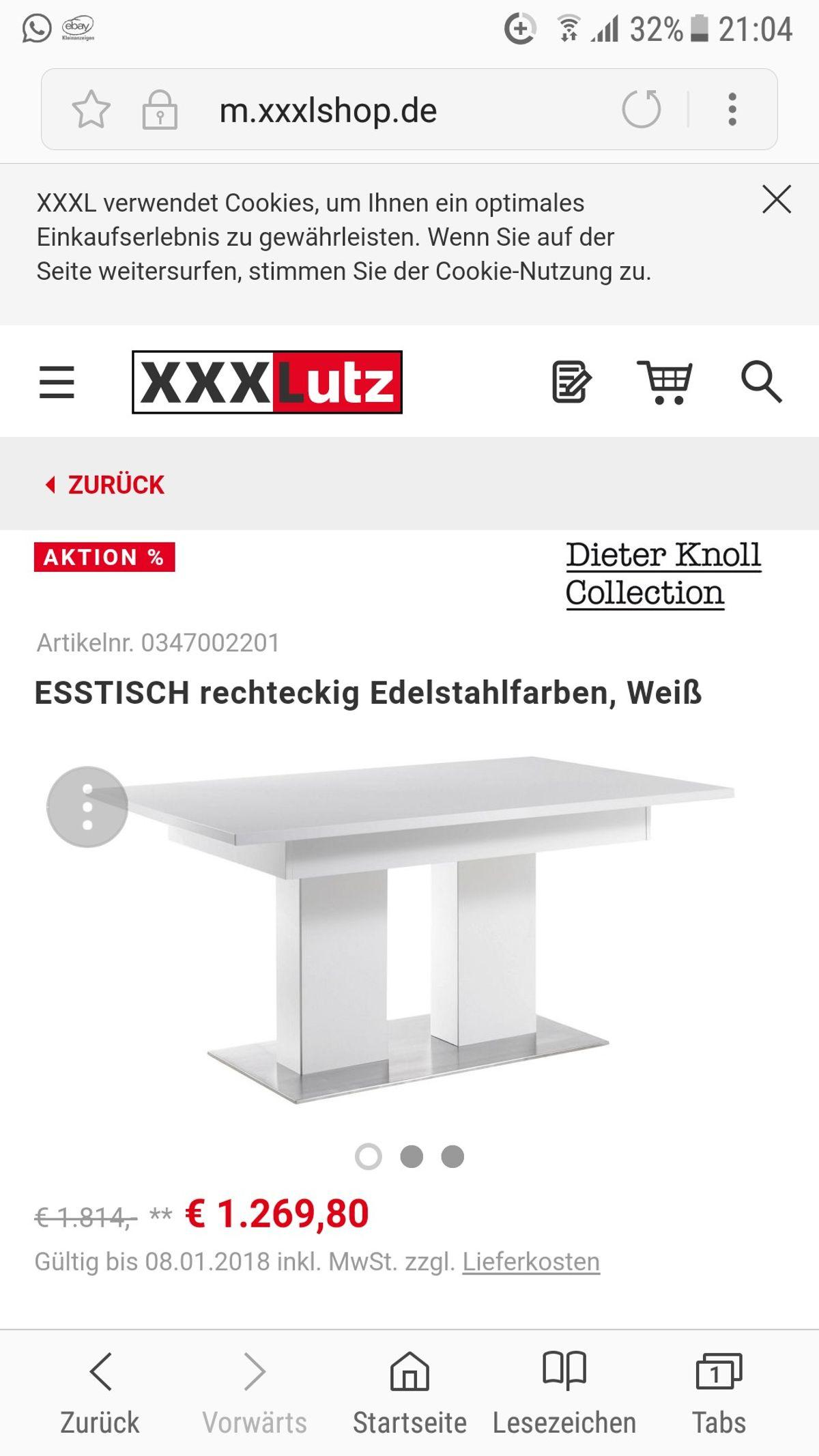 Dieter Knoll Esstisch Keramik