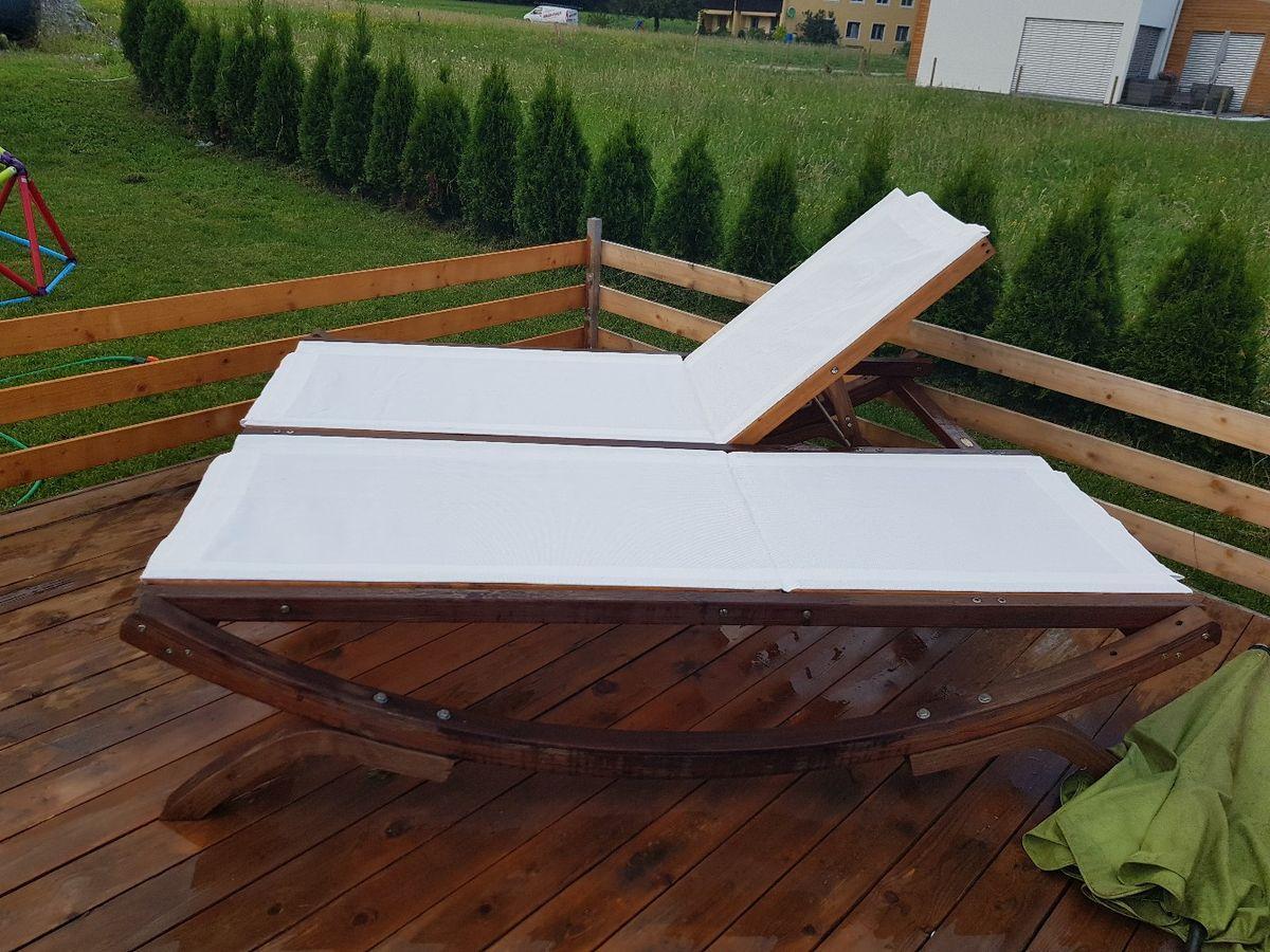 Doppel Gartenliege Mit Dach
