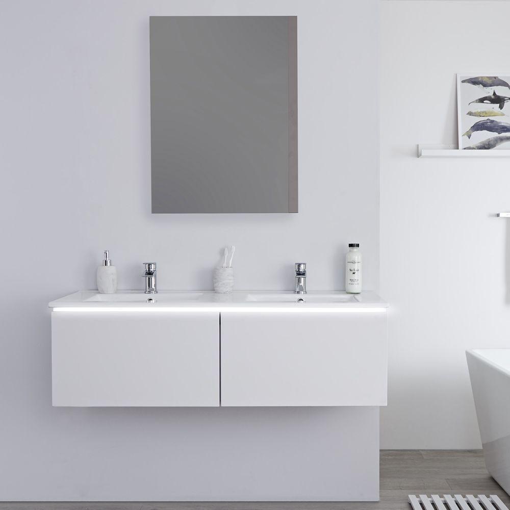 Doppeltes Waschbecken Mit Unterschrank
