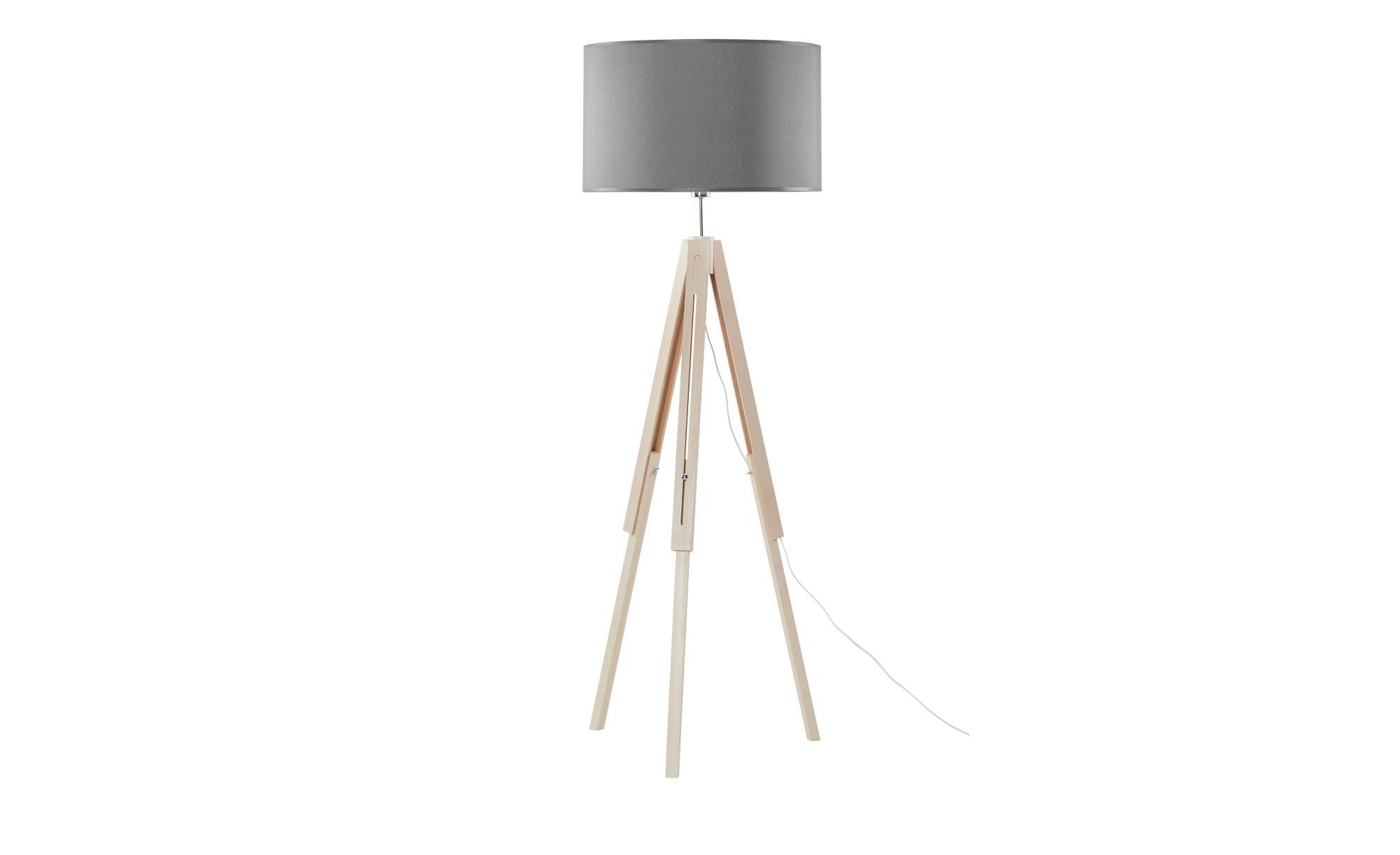 Dreibein Stehlampe Grau