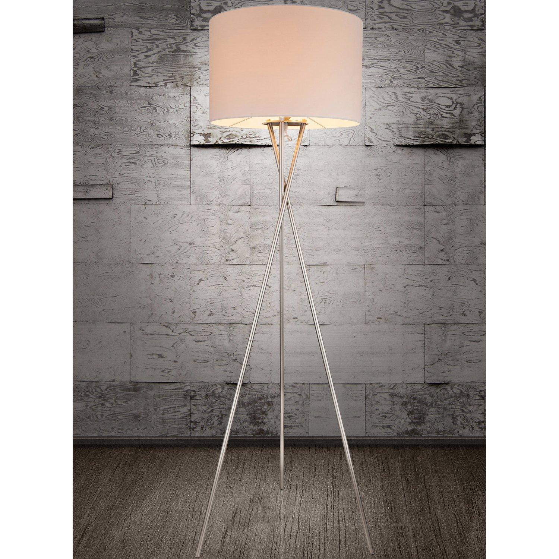 Dreibein Stehlampe Weiß
