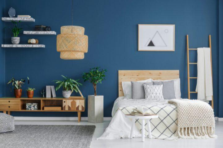 Dunkel Blaues Schlafzimmer