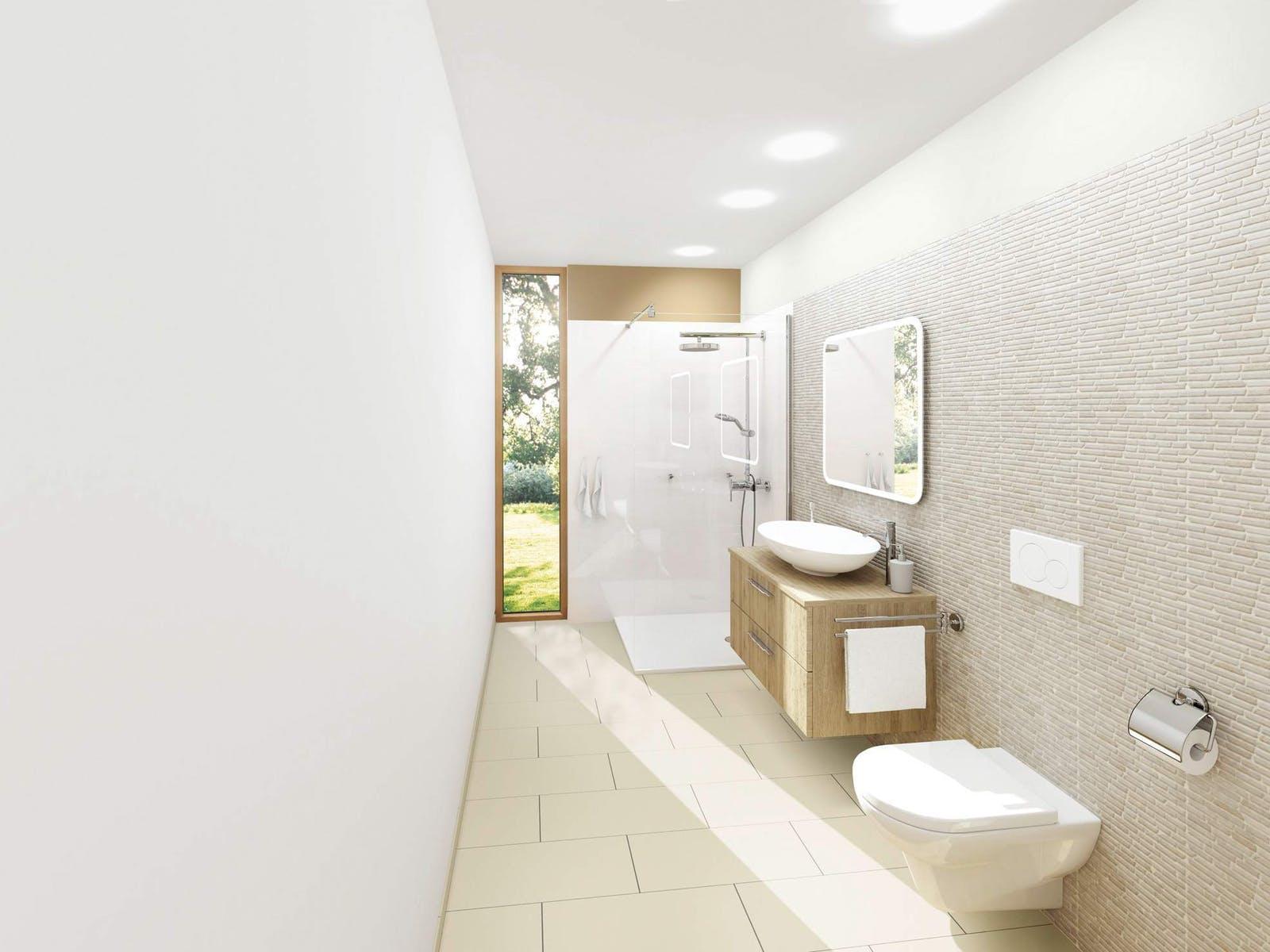 Dusche Modernes Badezimmer Klein