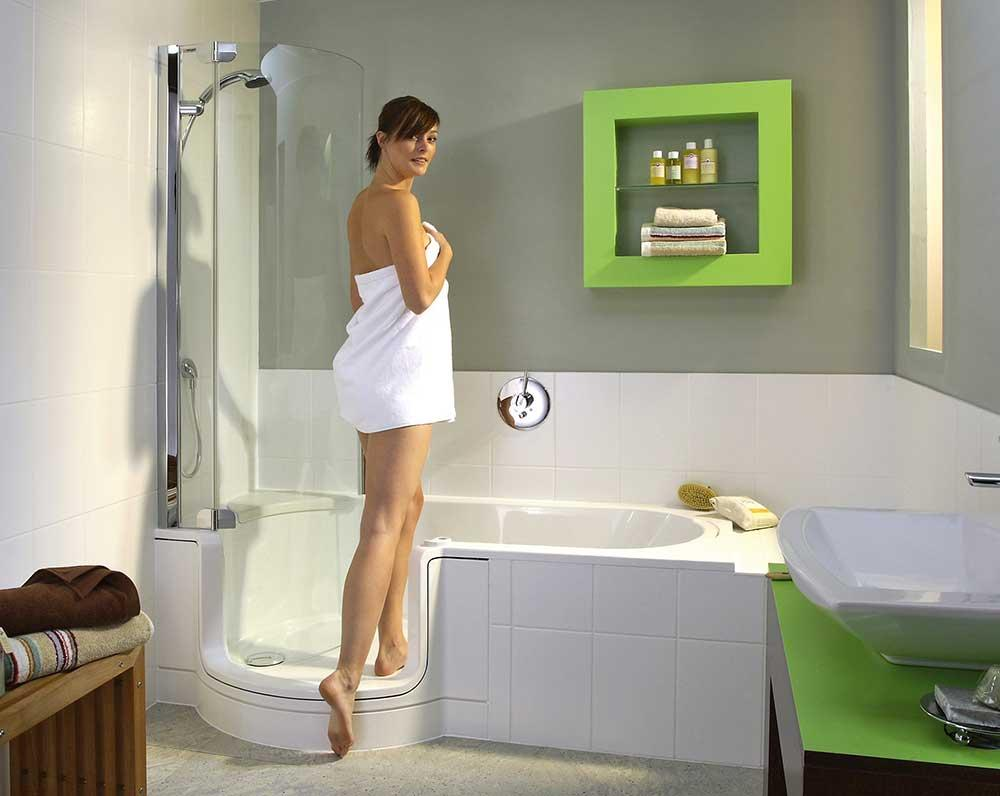 Dusche Und Badewanne Zusammen