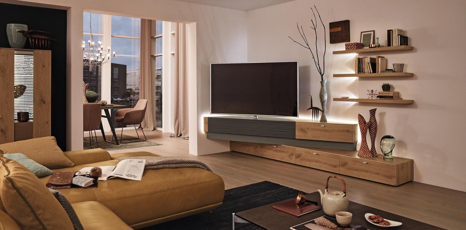 Eck Highboard Wohnzimmer