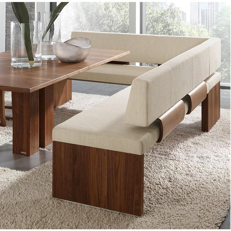 Eckbank Holz Leder Modern