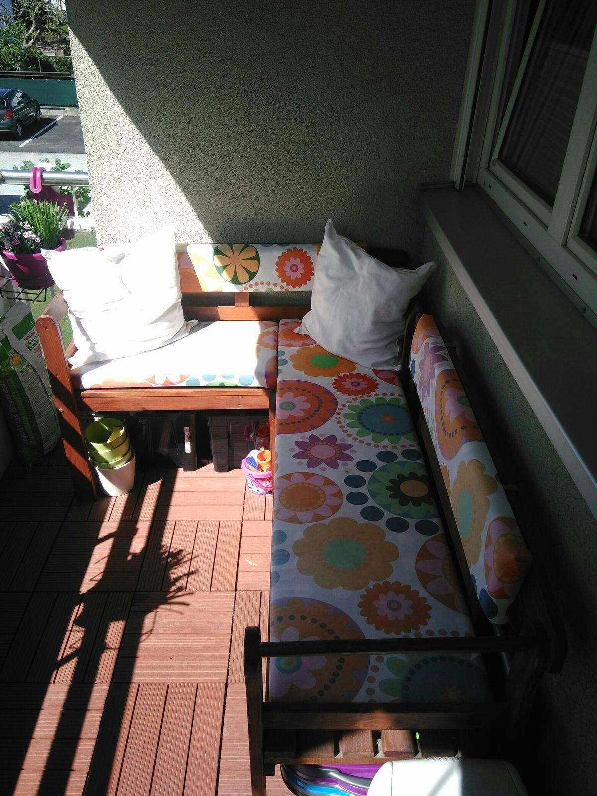 Eckbank Set Balkon