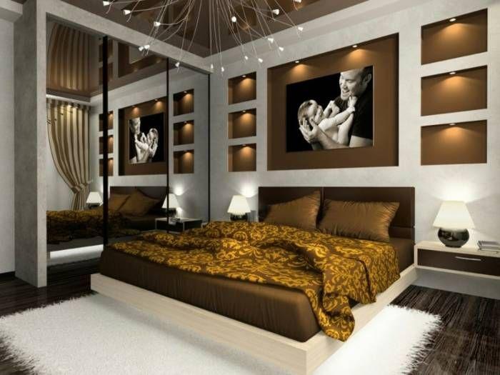 Effektvolle Schlafzimmer Ideen Wandgestaltung