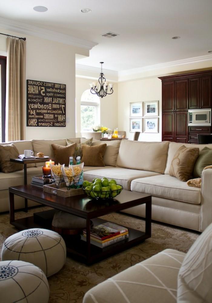 Einrichten Wohnzimmer Beige Grau