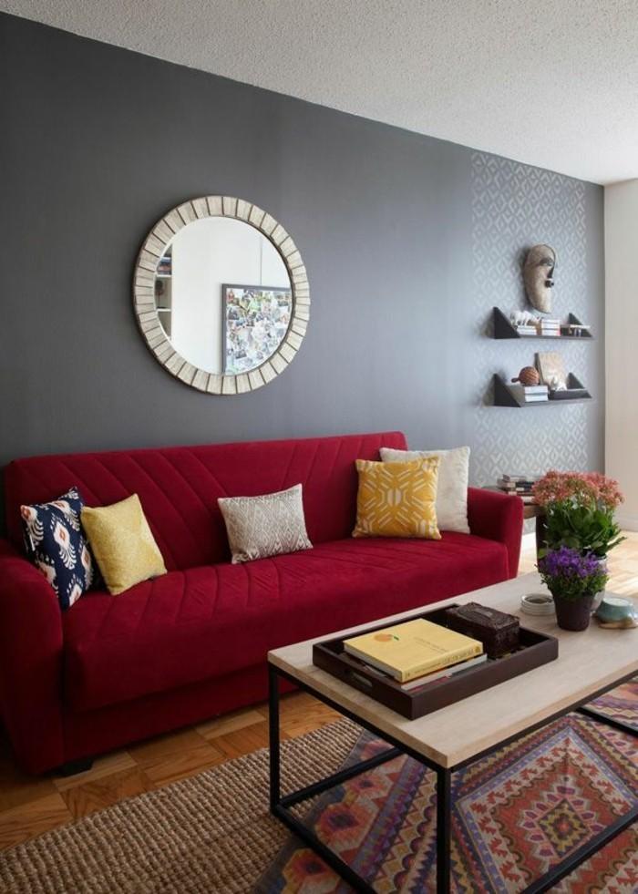 Einrichtungsideen Einrichtungstipps Rotes Sofa