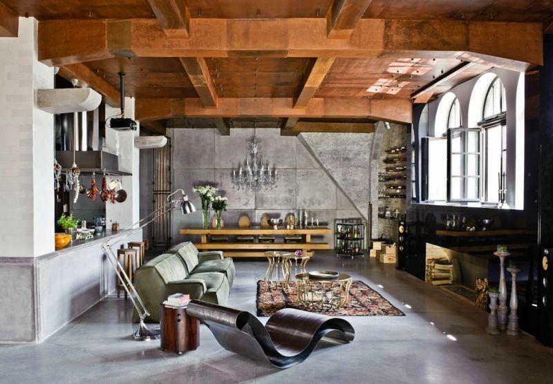 Einrichtungsideen Wohnzimmer Industrie Stil