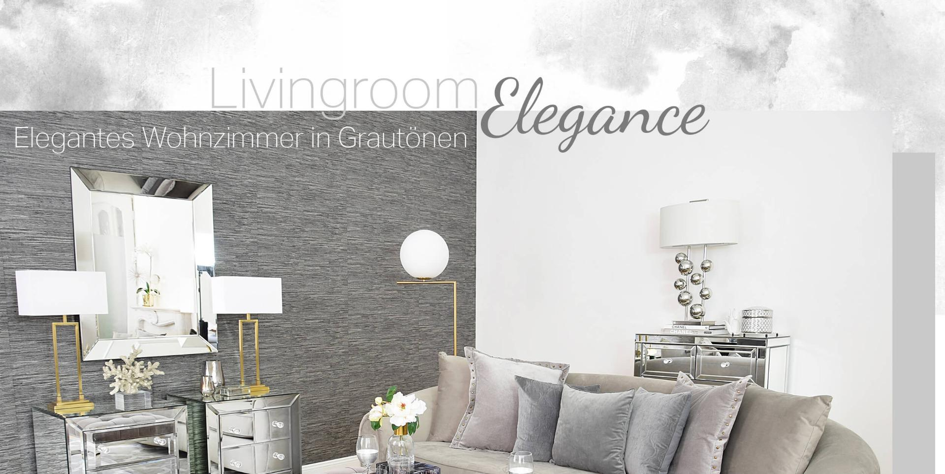 Elegante Wohnzimmer Tapeten