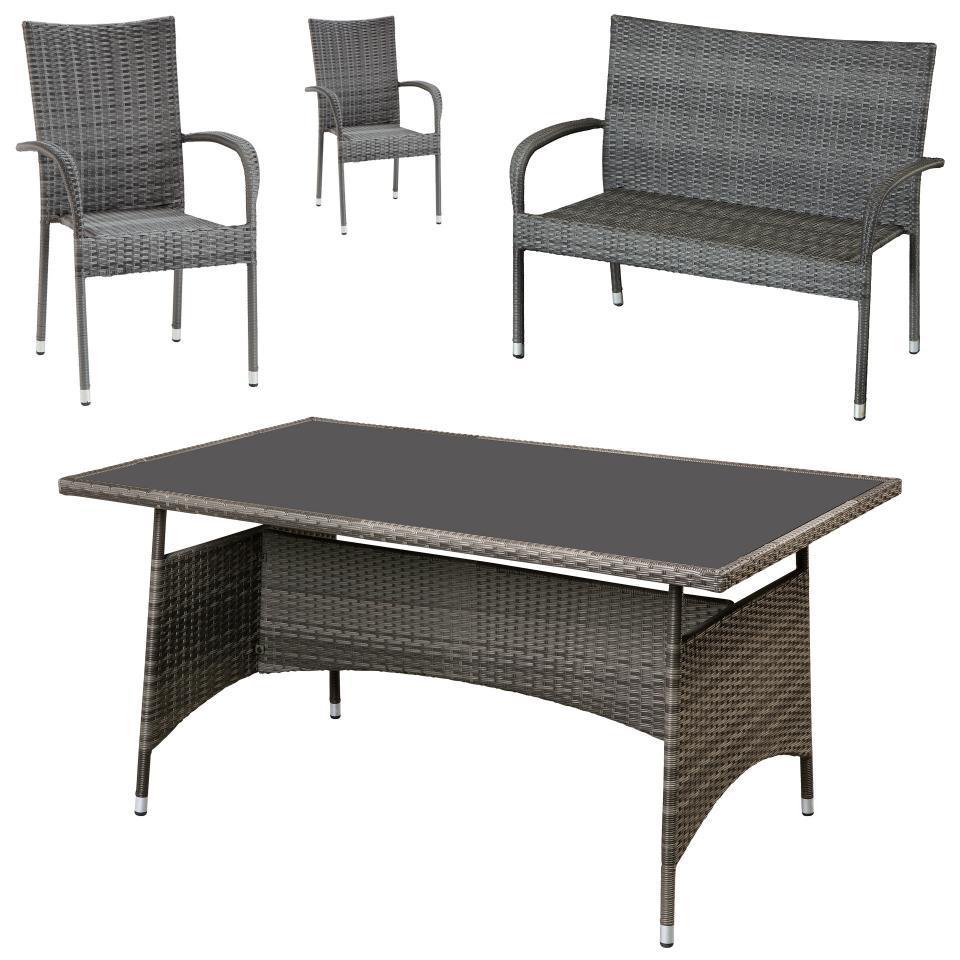 Esstisch Bank Stühle Set
