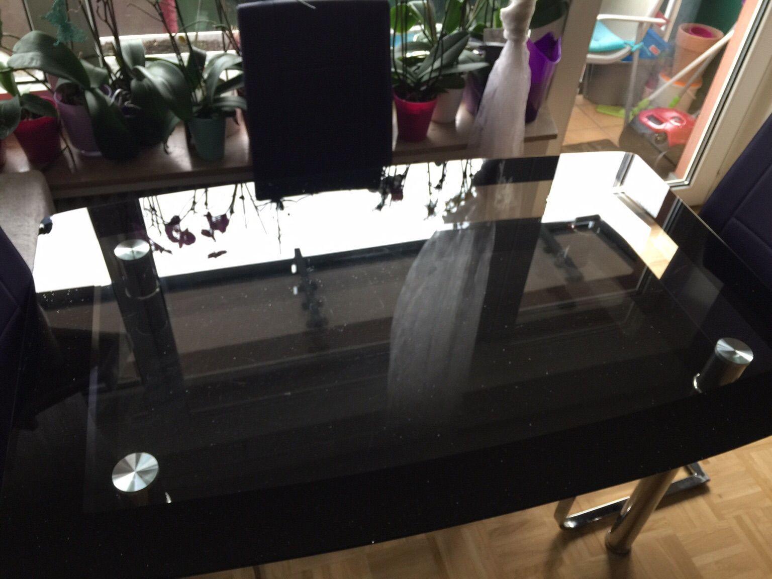 Esstisch Glas Schwarz