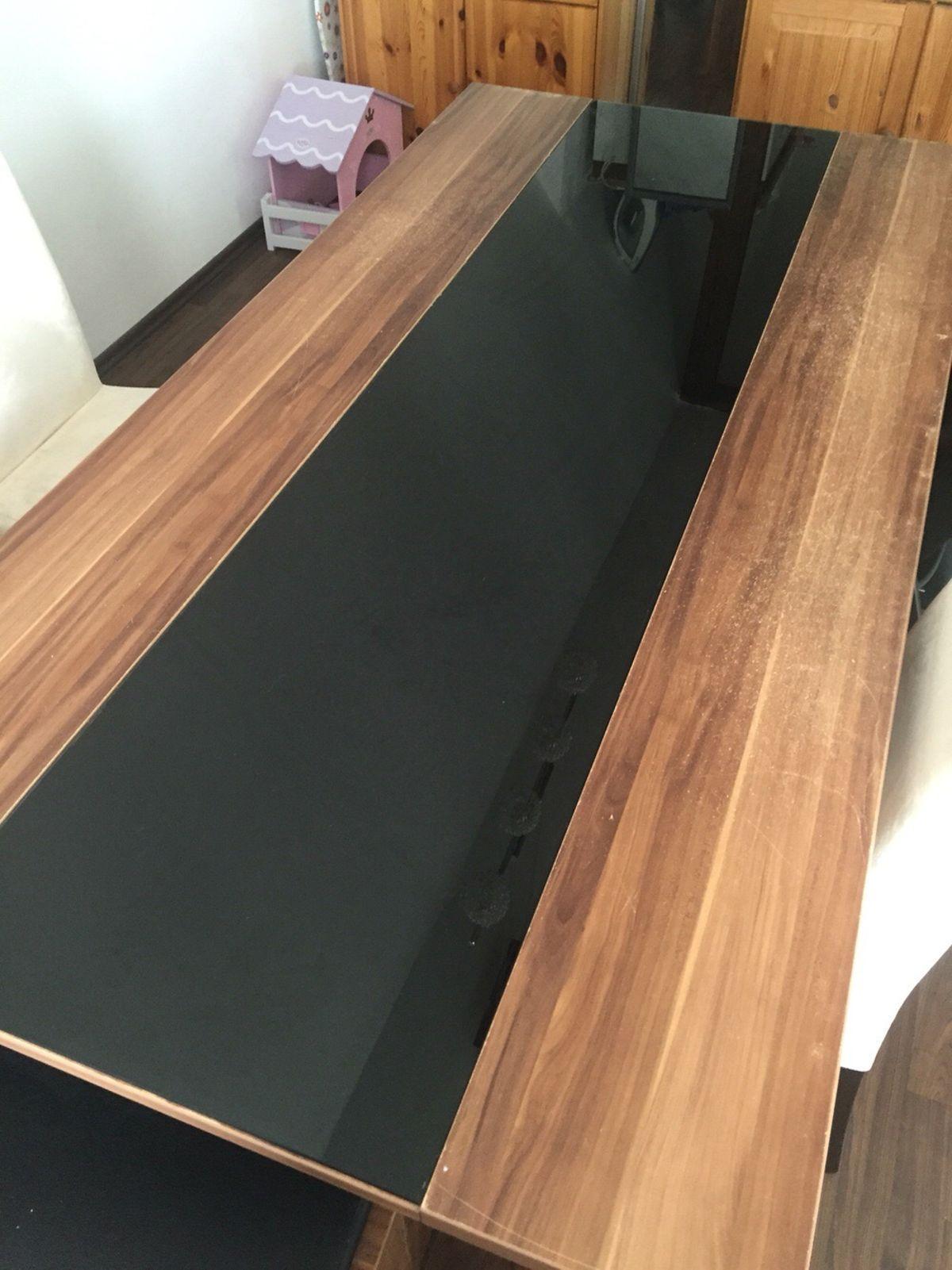 Esstisch Glasplatte Schwarz