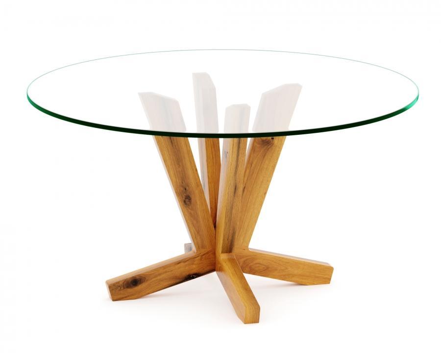 Esstisch Holz Massiv Mit Glasplatte