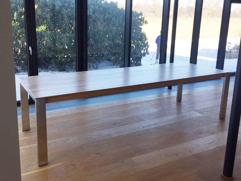 Esstisch Holzplatte Weiße Beine