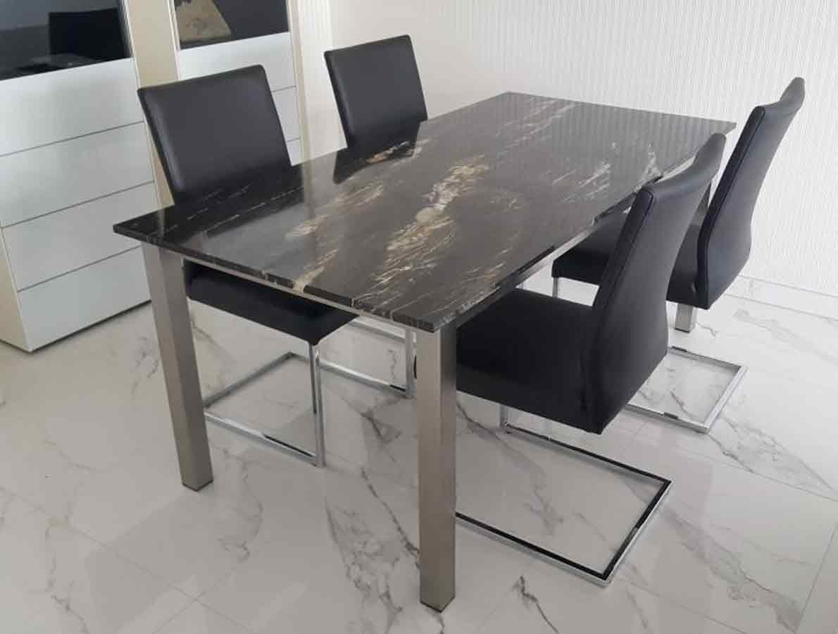 Esstisch Mit Granitplatte