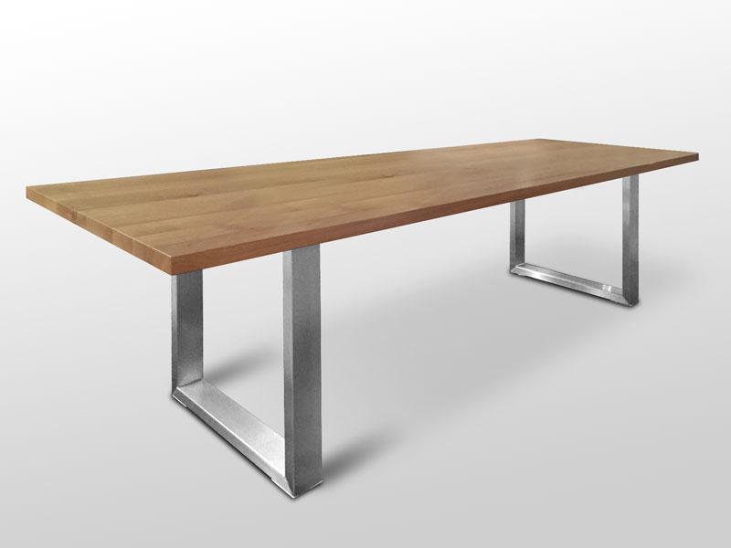 Esstisch Mit Holzplatte Und Metallbeinen