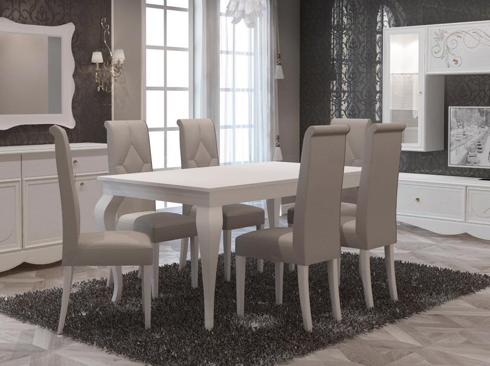 Esstisch Mit Stühlen Weiß