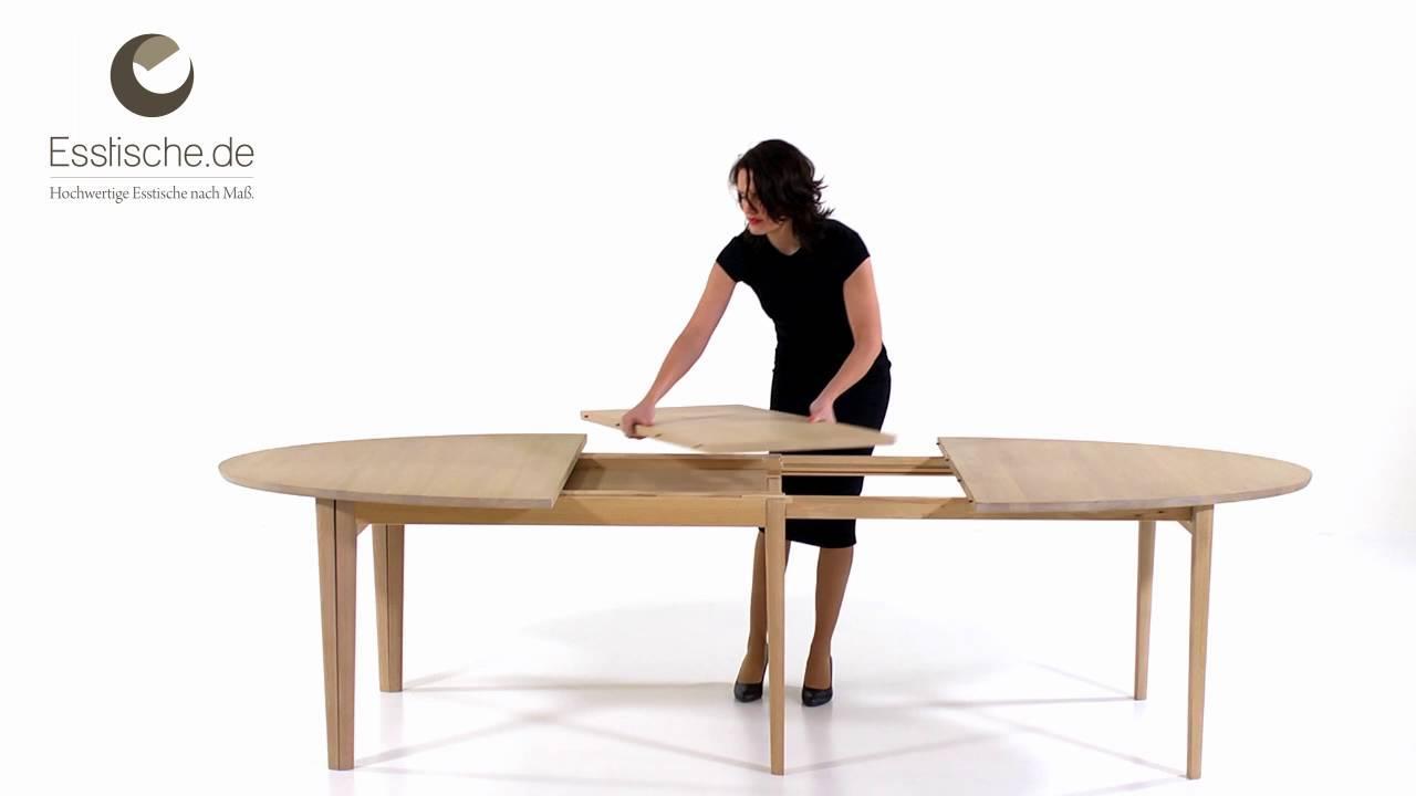 Esstisch Oval Holz
