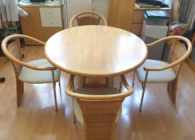 Esstisch Rund Ausziehbar Mit 4 Stühlen