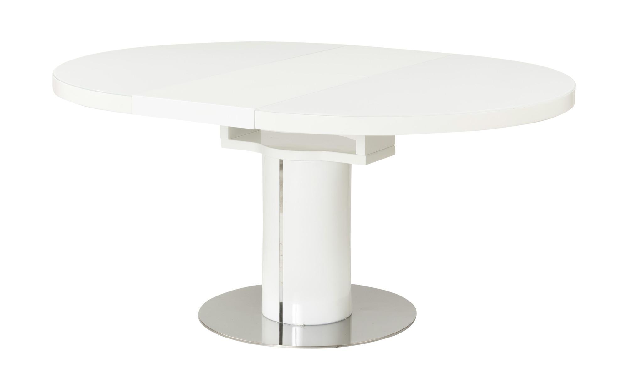 Esstisch Rund Weiß Ausziehbar 100 Cm