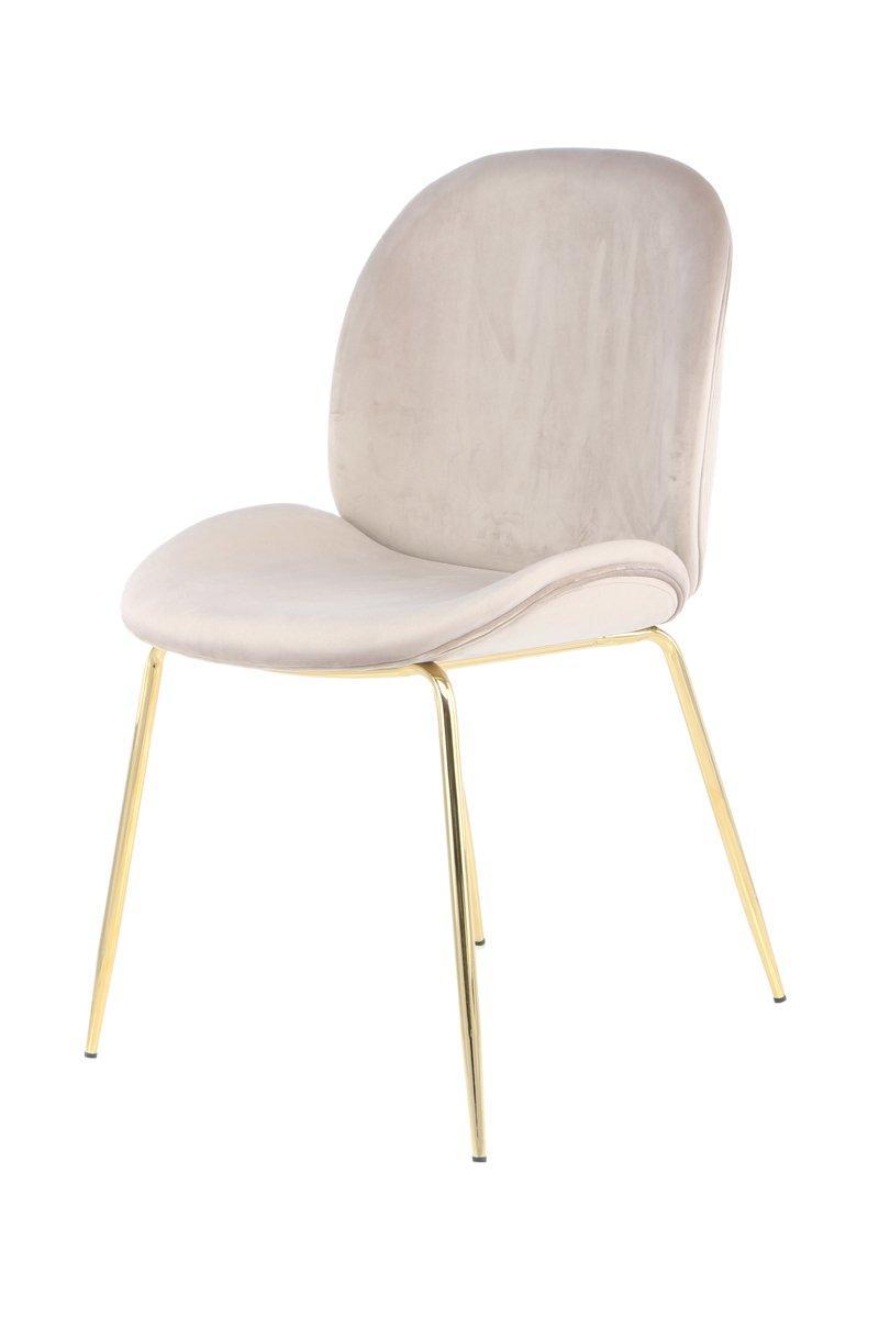 Esstisch Stühle Beige Gold