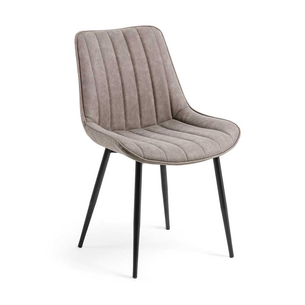 Esstisch Stühle Beige Leder