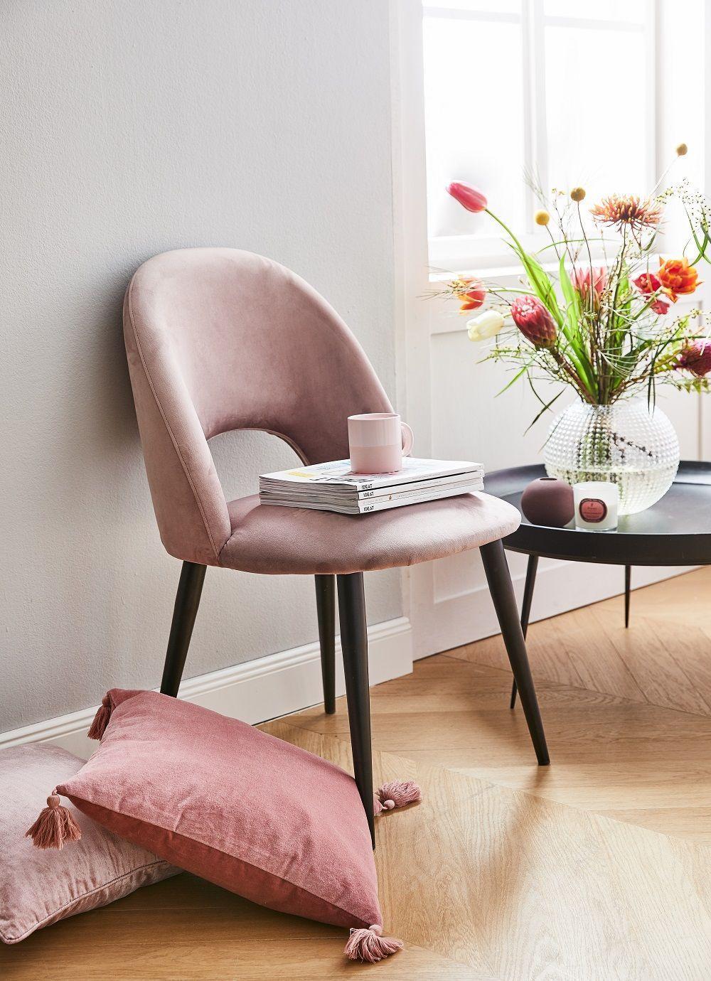 Esstisch Stühle Rosa Samt