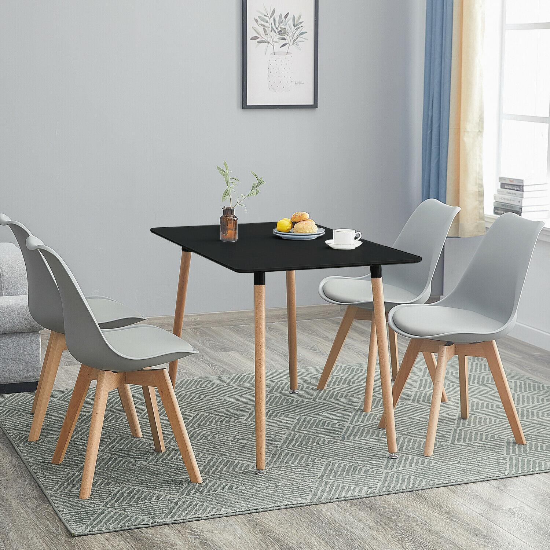 Esstisch Stühle Schwarz Holz
