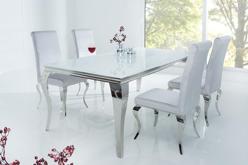 Esstisch Weiß Silber
