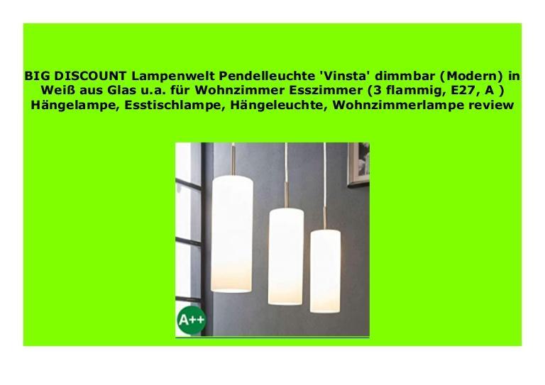 Esstischlampe Modern Glas
