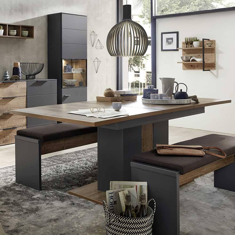 Esszimmer Grau Holz