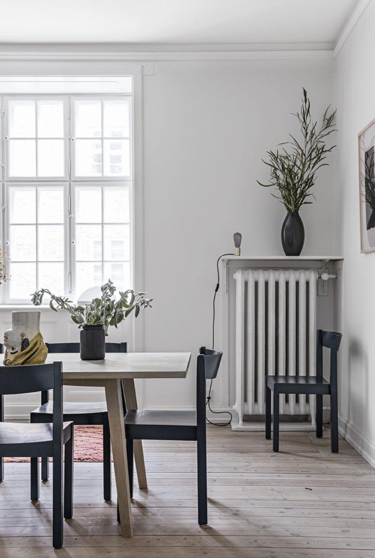 Esszimmer Grau Weiß Holz