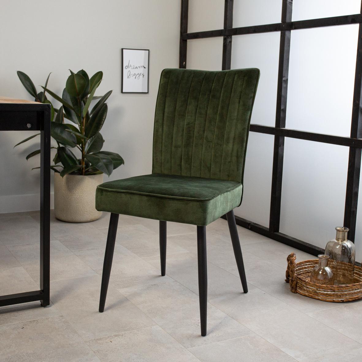 Esszimmerstühle Grün Samt