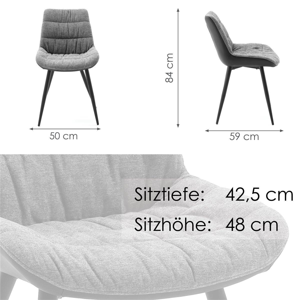 Esszimmerstühle Kunstleder Schwarz