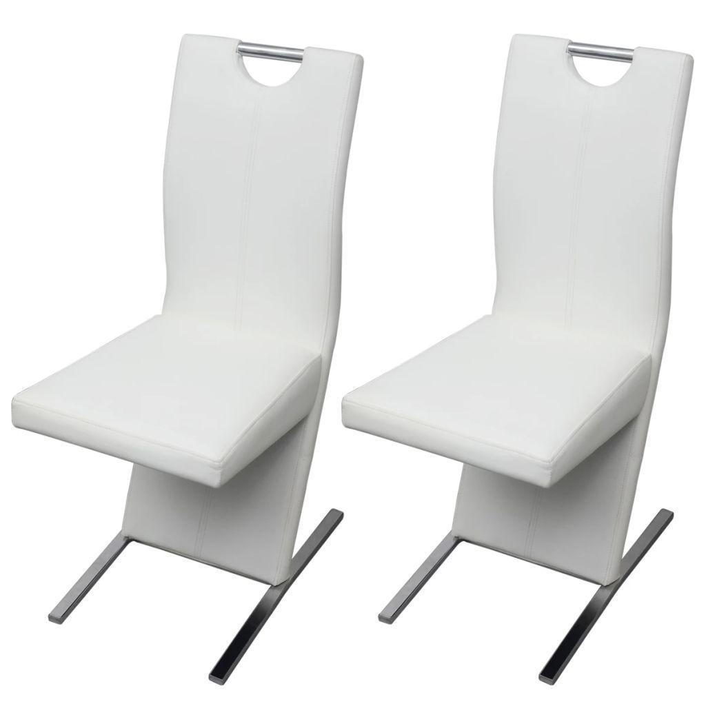 Esszimmerstühle Kunstleder Weiß