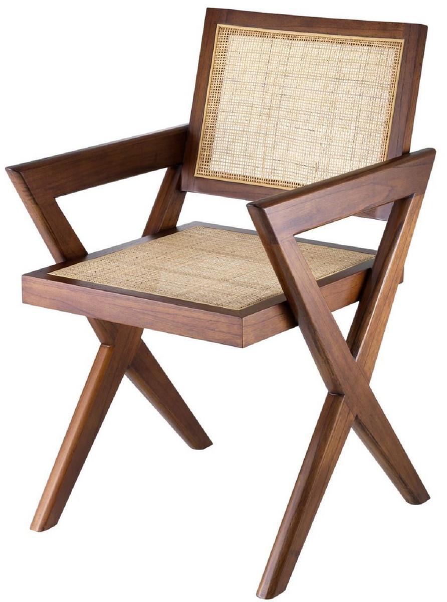 Esszimmerstühle Rattan Mit Armlehne