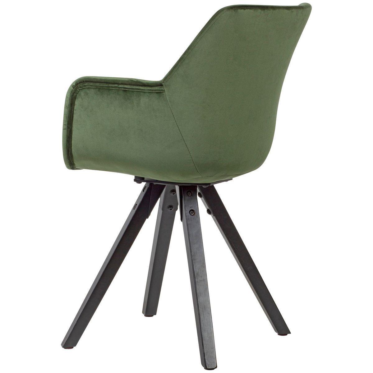 Esszimmerstühle Samt Grün