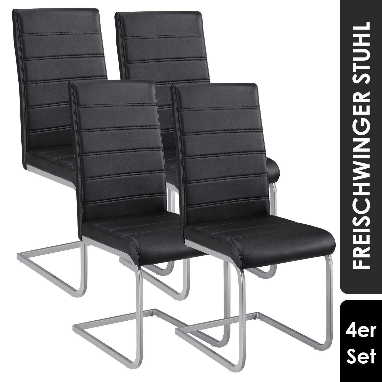 Esszimmerstühle Schwarz Kunstleder