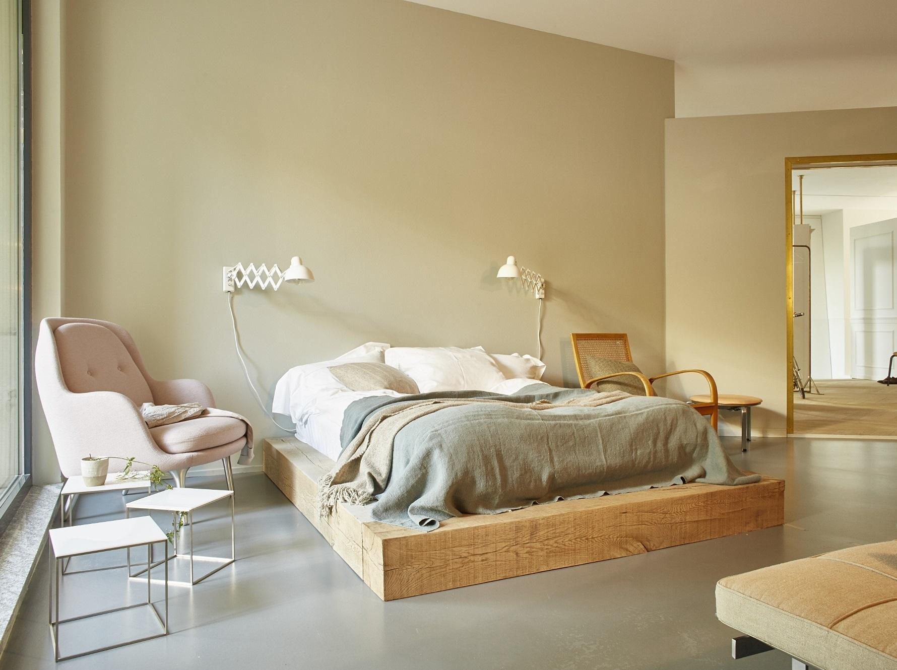 Farbgestaltung Wandfarbe Schlafzimmer Weisse Möbel