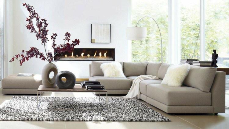 Farbkonzept Wohnzimmer Grau Beige