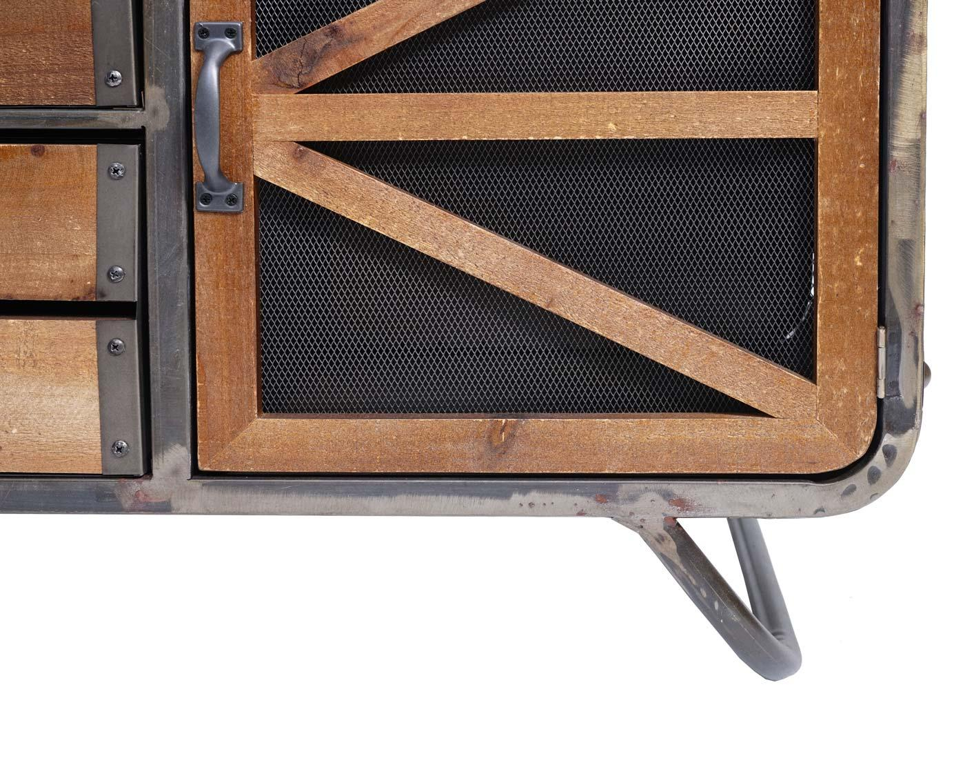 Fernsehtisch Holz Metall