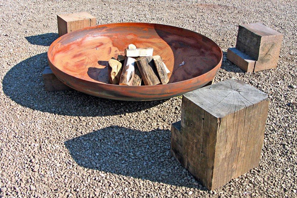 Feuerschale Garten Ideen