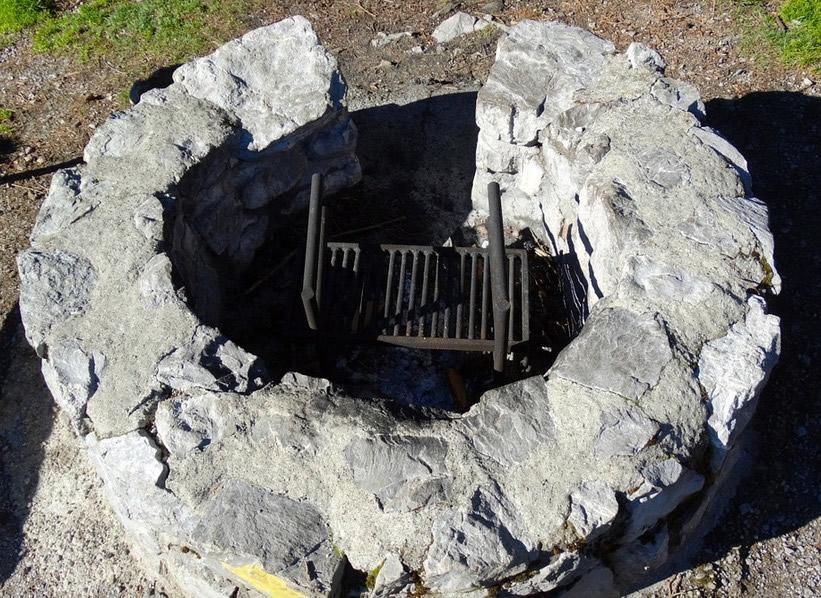Feuerstelle Im Garten Mit Steinen