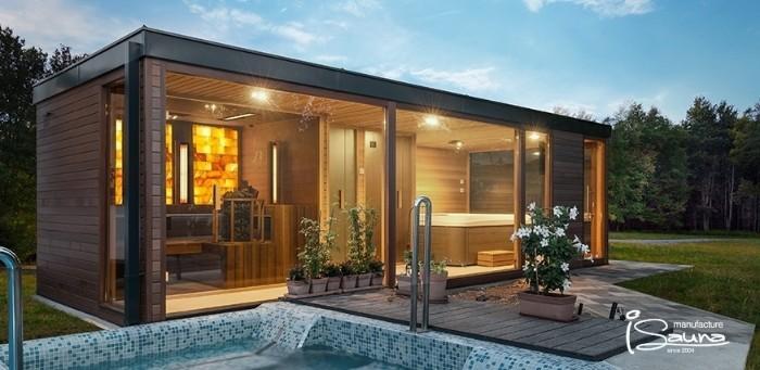 Flachdach Gartenhaus Modern