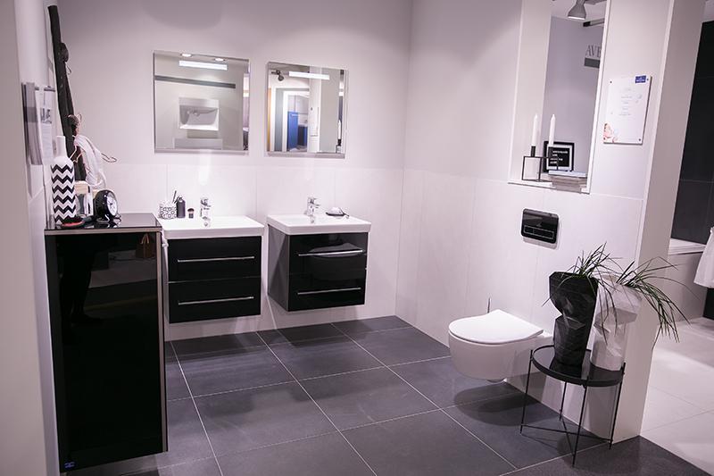 Fliesen Schwarzes Badezimmer