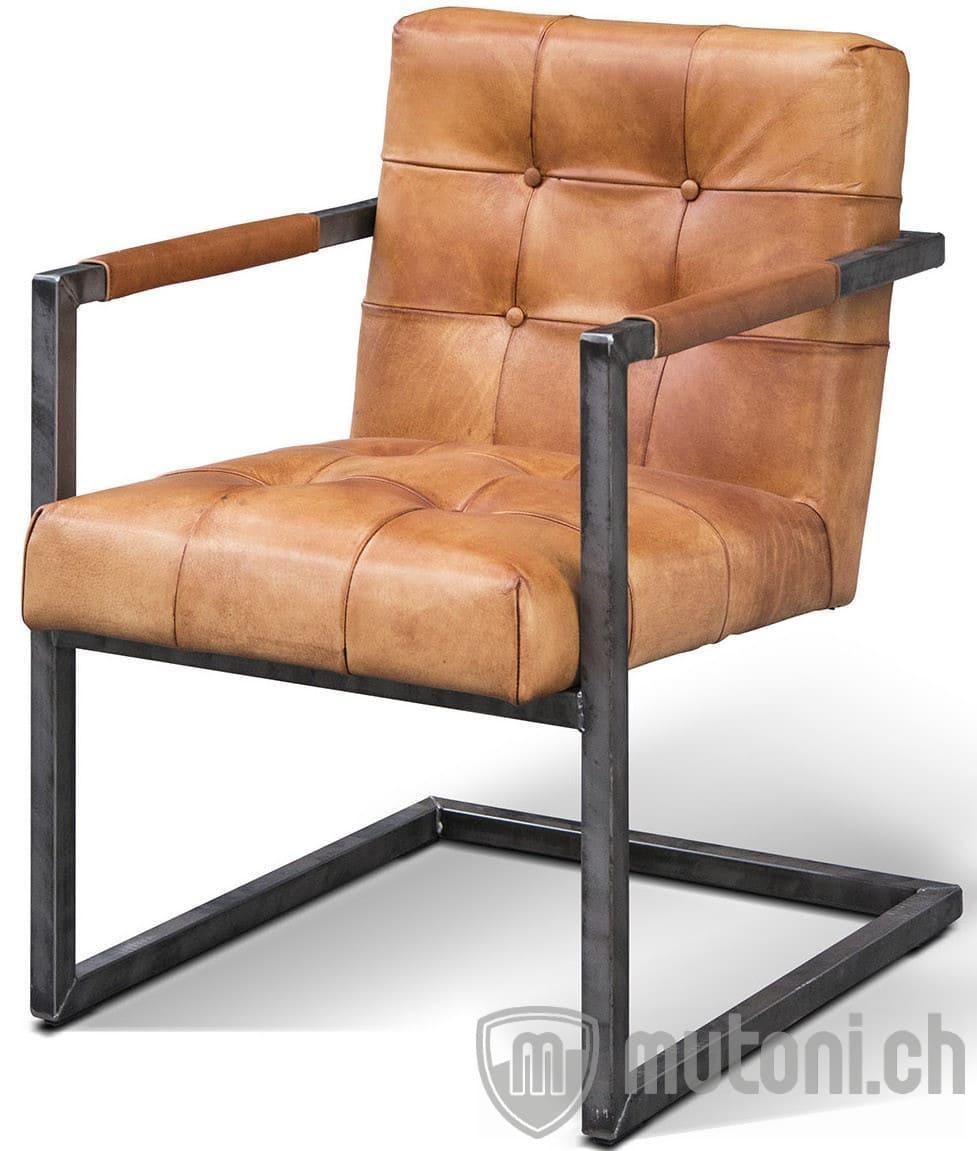 Freischwinger Sessel Leder