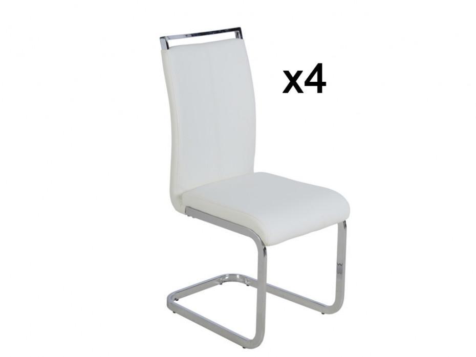 Freischwinger Sessel Weiß